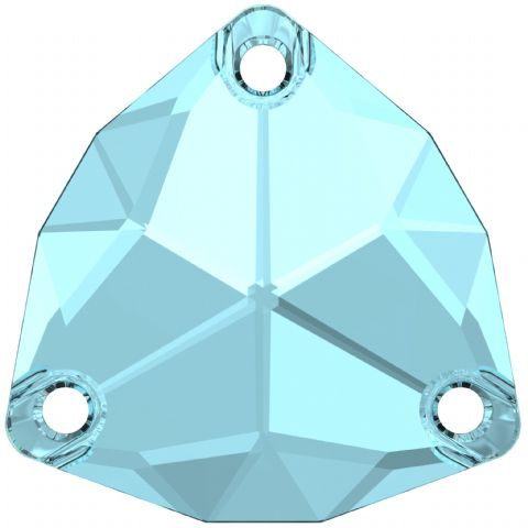 3272 Trilliant Sew On Crystals, Aquamarine